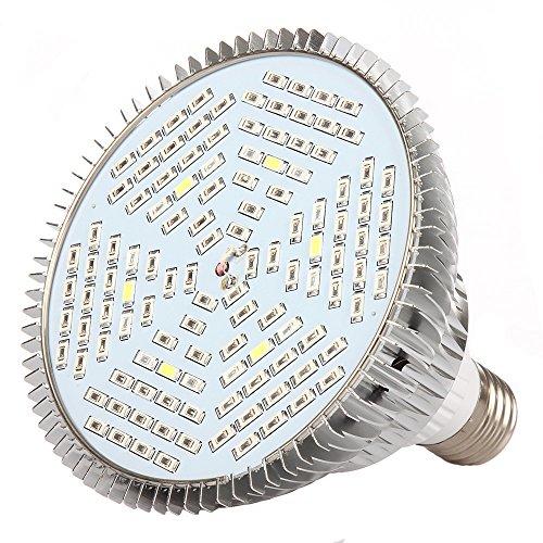 Amstt E27 Fassung 30/50/80W /40/78/120 LED Pflanzenlampe Wachstumslampe Pflanzenlicht für Zimmerpflanzen, Blumen und Gemüse,Garten Gewächshaus für Pflanzen Pflanzenbeleuchtung Blumenlampe (80)