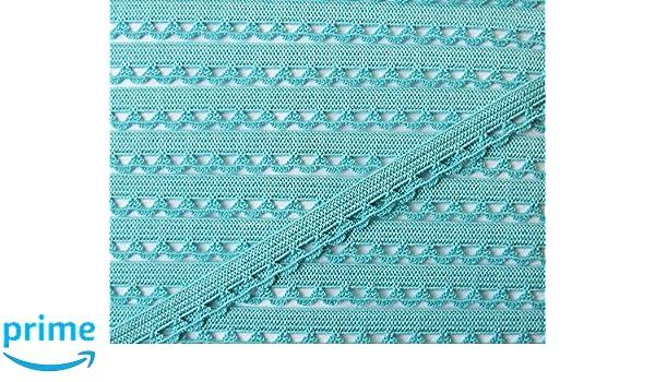 Gro/ßhandel f/ür Schneiderbedarf 3 m W/äschespitze elastisch 14 mm Creme