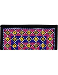 Para Girls Traditional Mirror And Hand Work Hand Clutch ,Black
