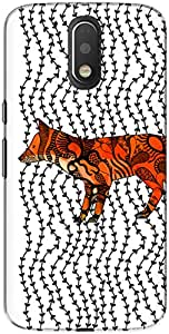The Racoon Lean printed designer hard back mobile phone case cover for Motorola Moto G Play 4th Gen. (Imprint)