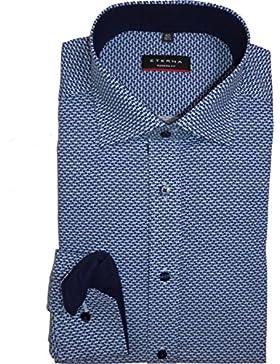 eterna - Camisa formal - Lunares - Clásico - Manga Larga - para hombre