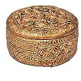 Handmade Wooden Round Shape Home Decorative Gift Dry Fruit Toffee Box - B07JNPN96F