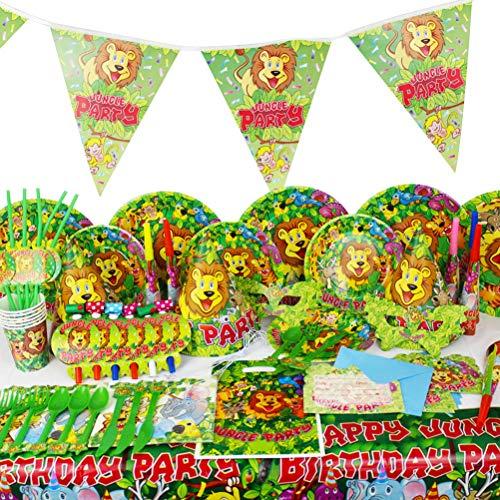 Toyvian Party Supplies Cartoon Lion Motto Party Kit Dschungel Party Favors Supplies Dekoration Requisiten für Kinder