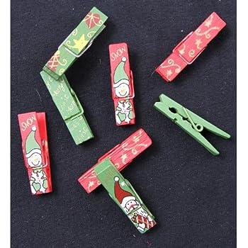Weihnachtsdeko Holzklammern für Fotos Absofine 50er Mini
