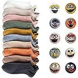 N\C Lustig Socken Damen Baumwolle Komfortabel Netter Cartoon Bestickte Frauen kurz Socken