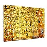 Bilderdepot24 Kunstdruck - Alte Meister - Gustav Klimt - Lebensbaum - 150x90cm dreiteilig - Leinwandbilder - Bild auf Leinwand