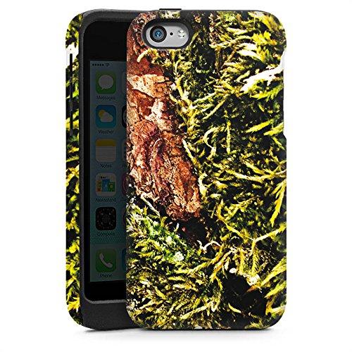 Apple iPhone 4 Housse Étui Silicone Coque Protection Écorce Bois Marais marécage mousse Cas Tough brillant