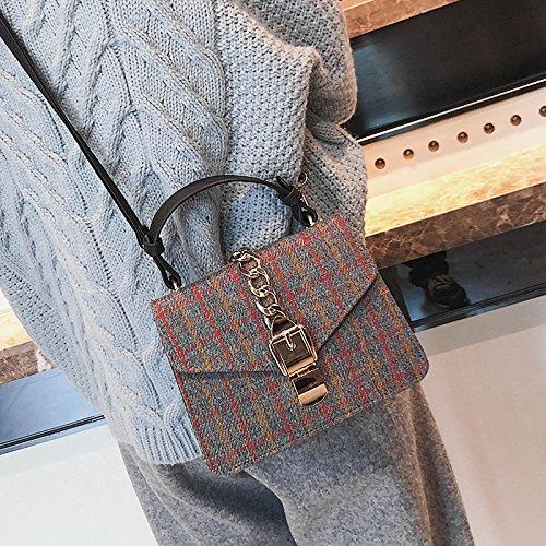 OME&QIUMEI Tragbare Schultertasche Frauen Tasche Schultertasche gray