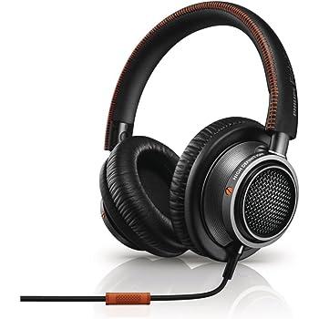 Philips Fidelio L2 Cuffie Audio ad Alta Risoluzione con Microfono e Comandi Integrati, Isolamento Acustico, Nero/arancione