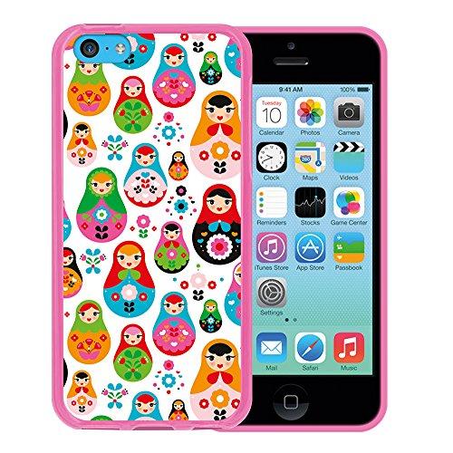 iPhone 5C Hülle, WoowCase Handyhülle Silikon für [ iPhone 5C ] Fußball, der den Wand bricht Handytasche Handy Cover Case Schutzhülle Flexible TPU - Schwarz Housse Gel iPhone 5C Rosa D0104