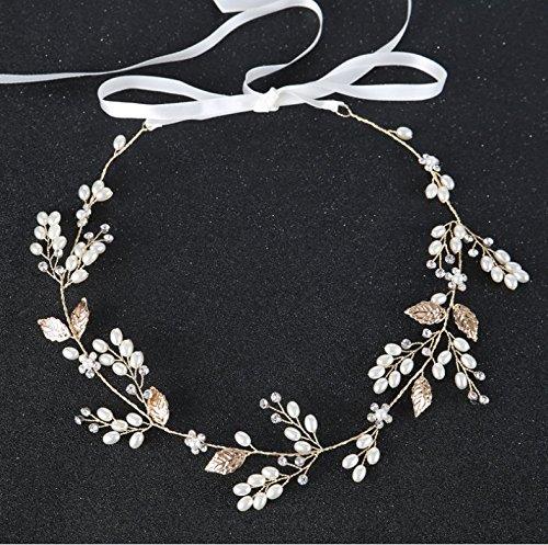 kaifang Kristall Pearl Vine Haarbänder Hochzeit Haar Zubehör A