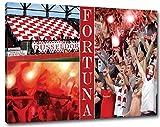 Ultras Düsseldorf Format: 120x80, Bild auf Leinwand XL,