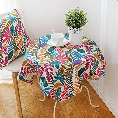 ronde nappe linge de table ronde carré style américain rural tissu de table chevet nappe -A 90x90cm(35x35inch)