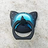 #6: Fancyku Cute Cat Shape Phone Ring Luminous 360 Degree Rotating Ring Grip Anti Drop Finger Holder for iPhone iPad and All Cellphone