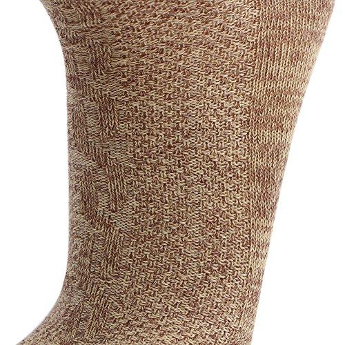 KUULEE Trachtensocken Trachtenstrümpfe Socken Herren Kniestrümpfe in 2 Farben für das Oktoberfest - 6