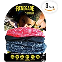 MULTIFUNCTIONAL HEADWEAR 3PC VARIOUS UNISEX DESIGNS-Absorbs Sweat, UV Protection, 12-In-1 Headband For Outdoor Sports -Wear as a Neck Gaiter, Ski Snood, Bandana, Scarf And More-For Men and Women