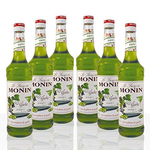 Monin Sirup Gurke, 0,7L 6er Pack