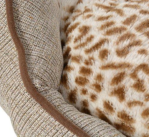 ts-ideen extra weiches Hundebett Tierbett Wendekissen Hundekorb Sofa 55 x 55 cm - 4