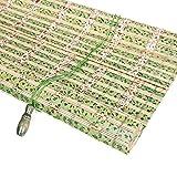JU FU Rollo Bambus Vorhang - natürliche Nanmu Kordelzug Bambus Vorhang staubdicht und Wasserdicht Hohlen Tee Zimmer Shutter [3 Farben 16 Größen] @ (Farbe : A, größe : 90x200CM)