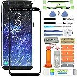 Acenix Ersatzdisplay für Samsung Galaxy S8, inkl. UV-Kleber und Öffnungswerkzeug