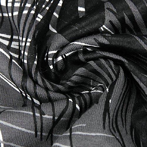 Culater® Femmes Mode Encolure Plumes Haut à Manches Courtes Blouse Jumper T-shirt Gris
