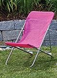 Liegestuhl für Kinder Gartenstuhl Liege Strandliege pink