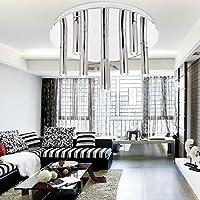 luce a LED Semplice ed elegante, moderna plafoniera 9 a testa per soggiorno, camera da (520 Menta)
