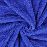 Fabulous Fabrics Teddy Plüsch Kuschel Marineblau —