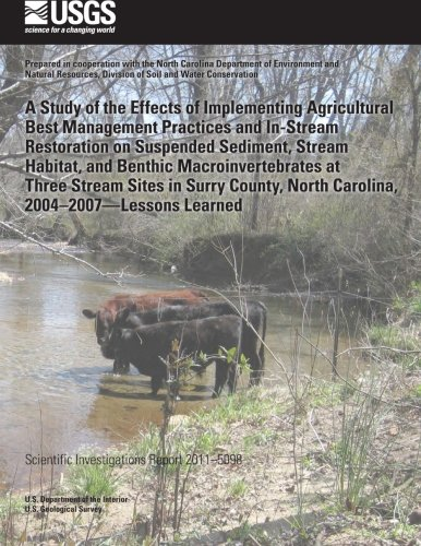 A Study of the Effects of Implementing Agricultural Best Management Practices and In-Stream Restoration on Suspended Sediment, Stream Habitat, and North Carolina, 2004?2007?Lessons Learned