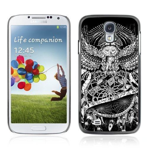 ouucase Coque rigide pour Samsung Galaxy S4Motif chouette-Dream Catcher Eye DIY HD Housse PC Pour New Design