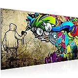 Bilder Graffiti Streetart Wandbild Vlies - Leinwand Bild XXL Format Wandbilder Wohnzimmer Wohnung Deko Kunstdrucke Bunt 1 Teilig - MADE IN GERMANY - Fertig zum Aufhängen 401912a