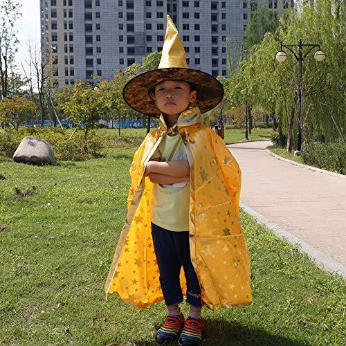 me kinderfreundliche Kindertag Zeigen Kinder Halloween Kürbis Schamane Mantel Weihnachten Kürbis Cape Schal ()
