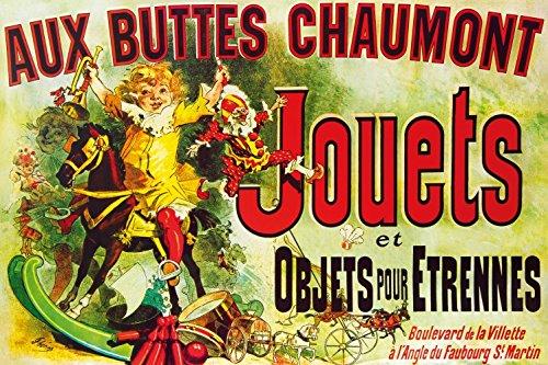 1art1 109469 Vintage - Aux Buttes Chaumont, Jouets Et Objets Pour Étrennes, Jules Cheret, 1885, 2-Teilig Fototapete Poster-Tapete 240 x 160 cm