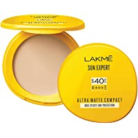 Lakmé Sun Expert Ultra Matte Spf 40 Pa+++ Compact, Non Greasy Non Sticky, For Indian Skin, Gives Even-Tone Complexion, 7…