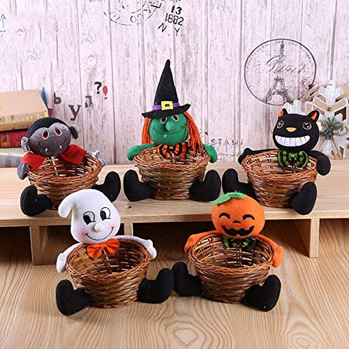 bdrsjdsb Halloween Ornamente Kinder Geschenk Kürbis Puppe Candy Ablagekorb Tabletop Party Supplies Hexe# (Frech Und Nett Kind Kostüm)