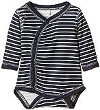 NAME IT Unisex Baby Body Nitwonder Nb Ls Wrap 515, Gestreift, Gr. Frühchen (Herstellergröße: 44), Mehrfarbig (Dress Blues)
