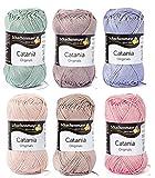Woll-Set Baumwollgarn Schachenmayr Catania #2 - pastell, Wollpaket Baumwolle zum Stricken und Häkeln