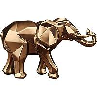 NSXIN Éléphant décoratif en résine dorée - Statues d'éléphants - Décoration d'intérieur