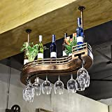 LIXIONG S type suspension Wine rack Bottles Holder goblet Display Shelves ( Size : 100cm )