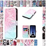 KM-Panda Housse Coque Apple iPhone 5 5S Se Rose Bleu Cuir PU Wallet Cover TPU...