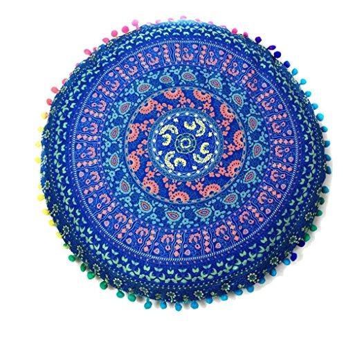 Xinan Kissenbezug Böhmische Indian Mandala Round Böhmische Kissen Cover Case (43*43cm/(17.0*17.0