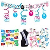 #2: Party Propz™ Baby Shower Party Supplies (STO2197+BABPO09+Mom to be SA0SH+LMMST01+SWIRL) / Baby Shower Party Supplies/ Baby Shower Party Decoration / Baby Shower String Banner / baby shower decoration material