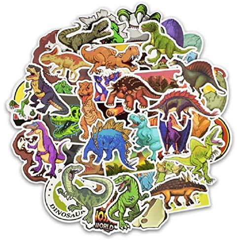 ⭐Top Aufkleber! ⭐ Set von 50 Aufkleber Dinosaurier - Premium Qualität - Vinyls Stickers Nicht Vulgär Dino - Raptor, Triceratops - Stil, Bombe, Graffiti - Anpassung Laptop, Gepäck, Moto, Skateboard