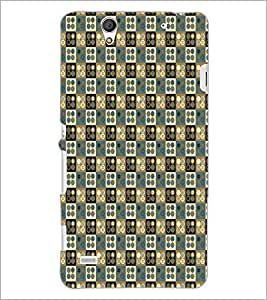 PrintDhaba Pattern D-5929 Back Case Cover for SONY XPERIA C4 (Multi-Coloured)