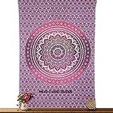 Hippie Tapisserie Wand Hippie zum Aufhängen Mandala bedspreed Twin Pink ombere Wandteppich