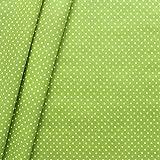 Baumwollstoff beschichtet Punkte Stoff Meterware Lind-Grün