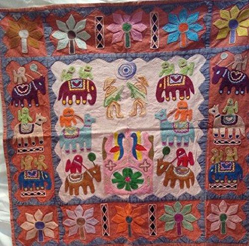 Exklusive Suzani bestickt Wandteppich, Suzani Poster bestickt, zum Aufhängen Suzani bestickt Tischläufer, 91,4x 91,4cm von bhagyoday Fashions (Tischläufer Zoll 36)