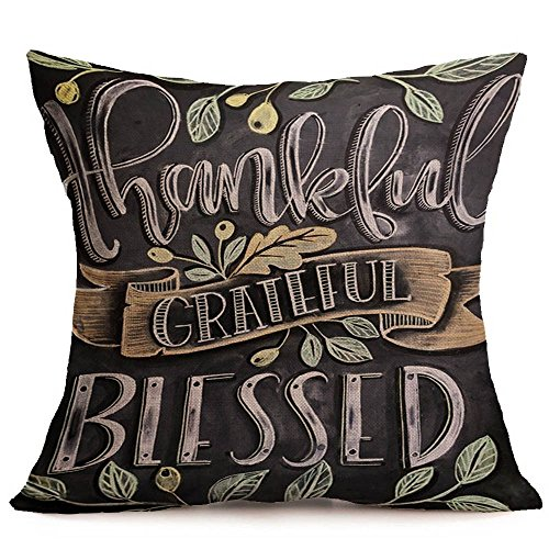 LILIGOD Happy Fall Thanksgiving Day weiches Leinen Kissenbezug Kissenbezug Home Decor 45cmx45cm Thanksgiving Leinen Umarmung Kissenbezug Mode Dekoration Kissenbezüge Kissenhülle -