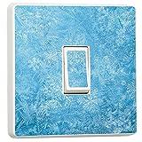 Selbstkebender Aufkleber für den Lichtschalter, gefrorenes Wasser