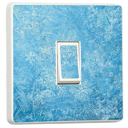 Frozen Ice Wasser Design–Single Lichtschalter–Selbstklebendes Vinyl Aufkleber